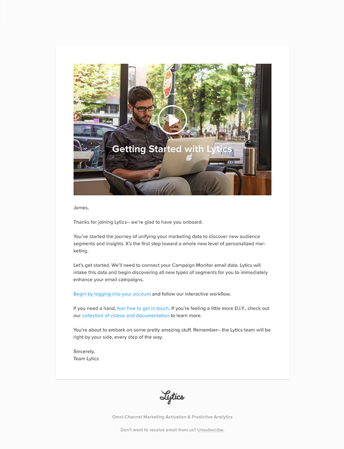 Lytics - Email Template