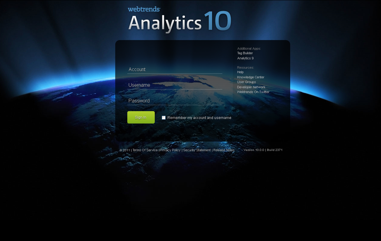 Webtrends - Analytics 10